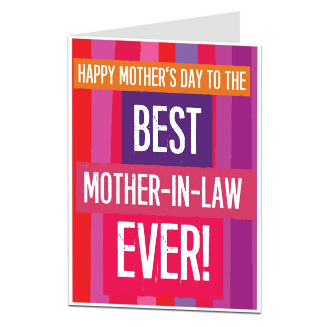 mother in law mothers day card