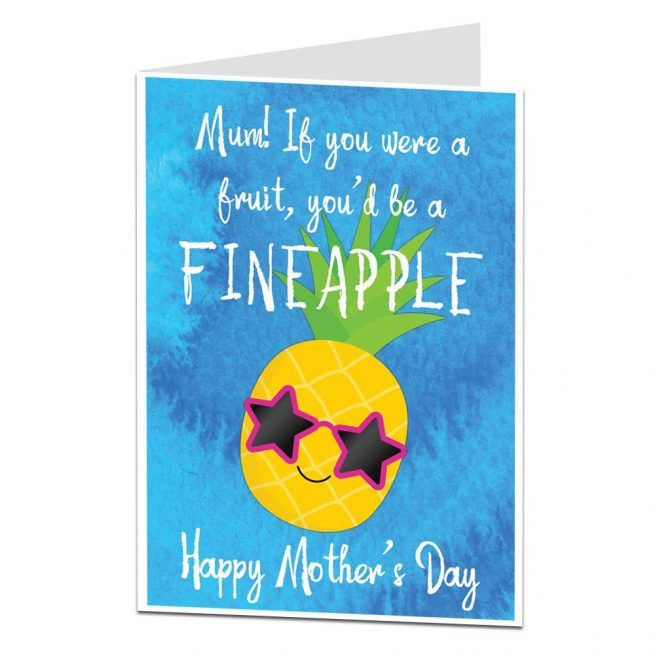 Funny Pineapple Pun Mother's Day Card