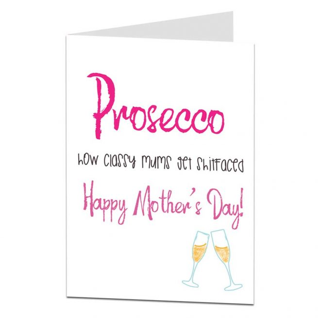 Classy Mums Prosecco Mother's Day Card