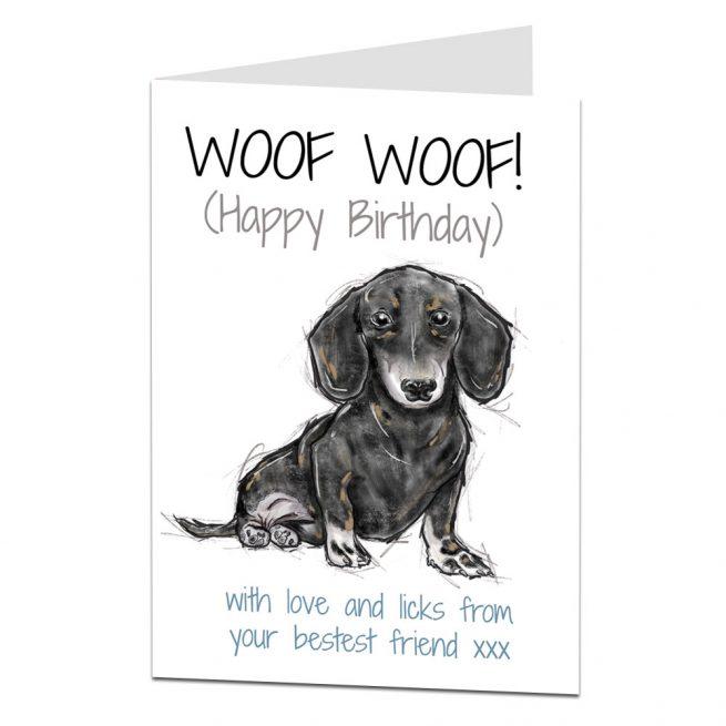 Daschund Birthday Card