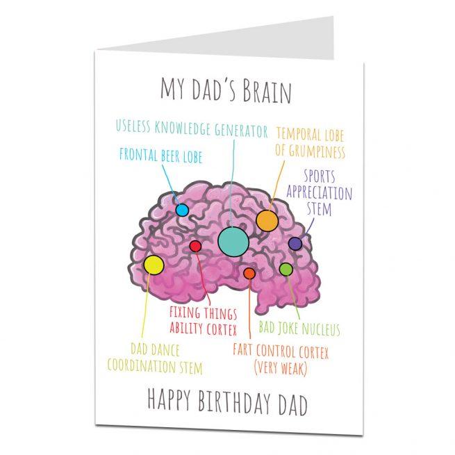 Dad's Brain Birthday Card