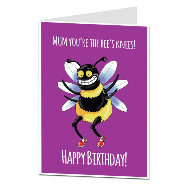 Mum Birthday Card Bee's Knees