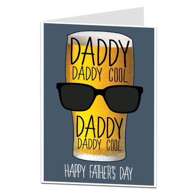 Fathers Day Card Daddy Cool Beer Limalimacouk
