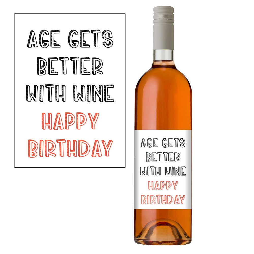 Age Gets Better With Wine Label