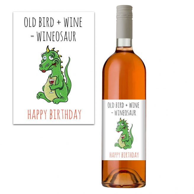 Wineosaur Wine Bottle Label