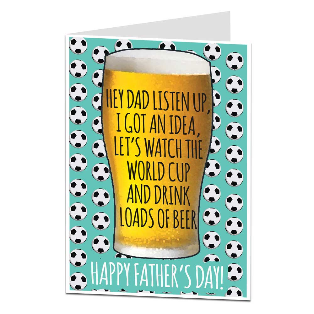 Fathers Day Card World Cup Beer Limalimacouk