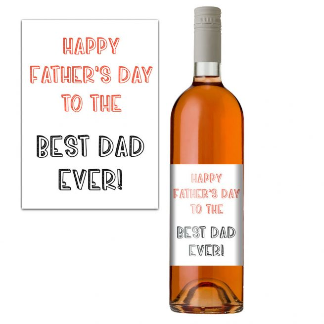 Father's Day Wine Bottle Lable
