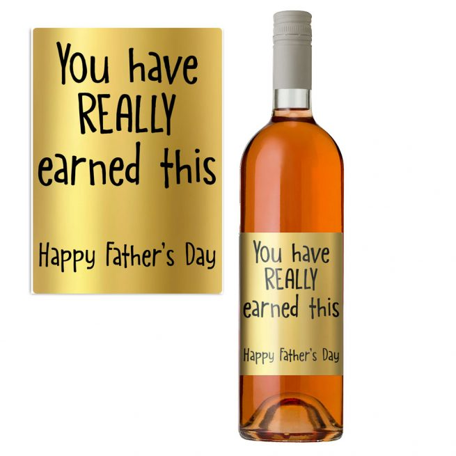 Gold Funny Father's Day Label