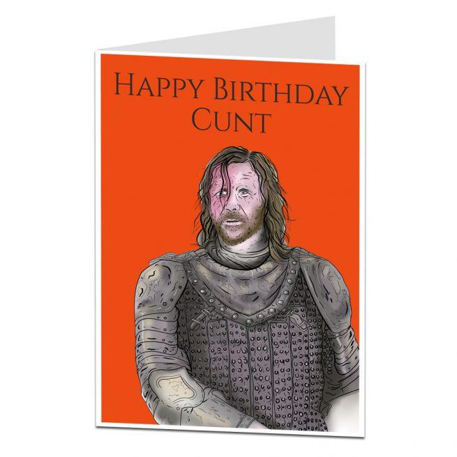 Happy Birthday Cunt Card