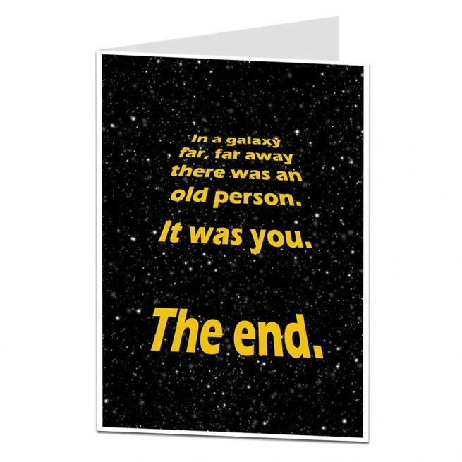 Funny In A Galaxy Birthday Card