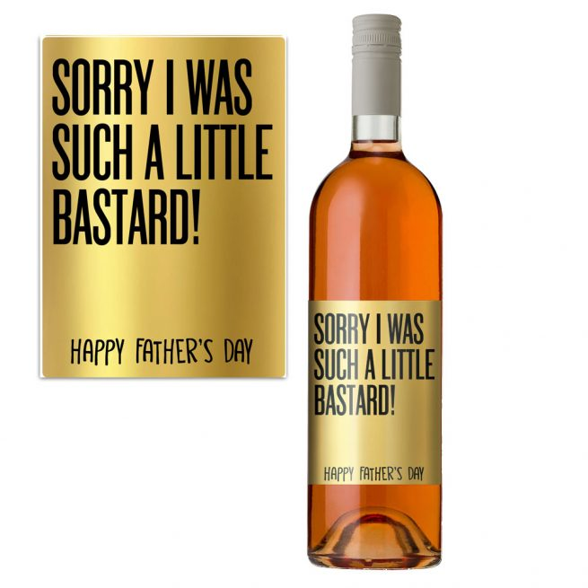 Little Bastard Ftaher's Day Wine Bottle Label