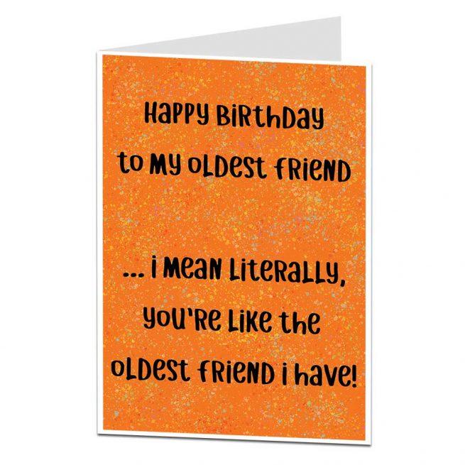 Oldest Friend Birthday Card