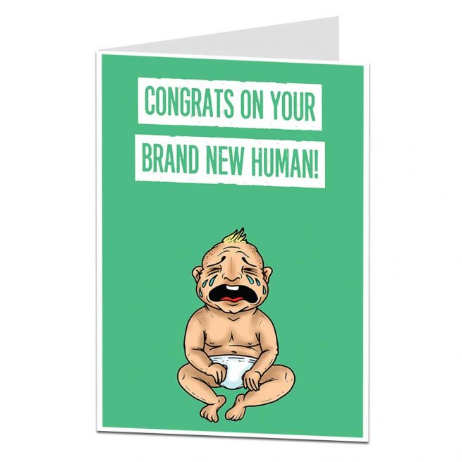 Brand New Human New Baby Card
