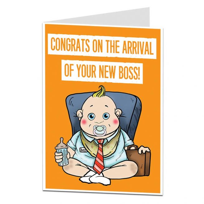 New Baby Card Arrival New Boss