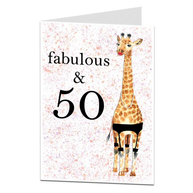 Fabulous & 50 Birthday Card