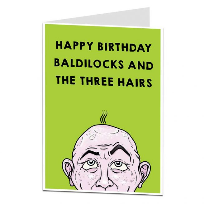 Happy Birthday Baldilocks Card