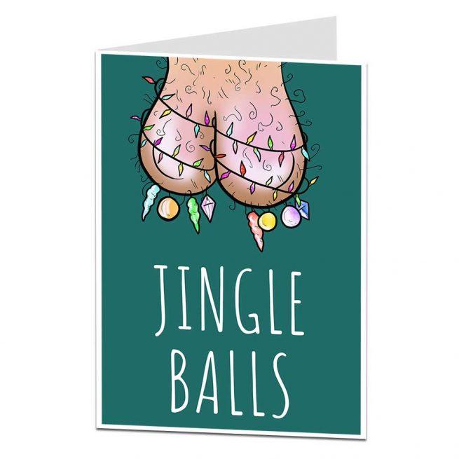 Jingle Balls Christmas Card