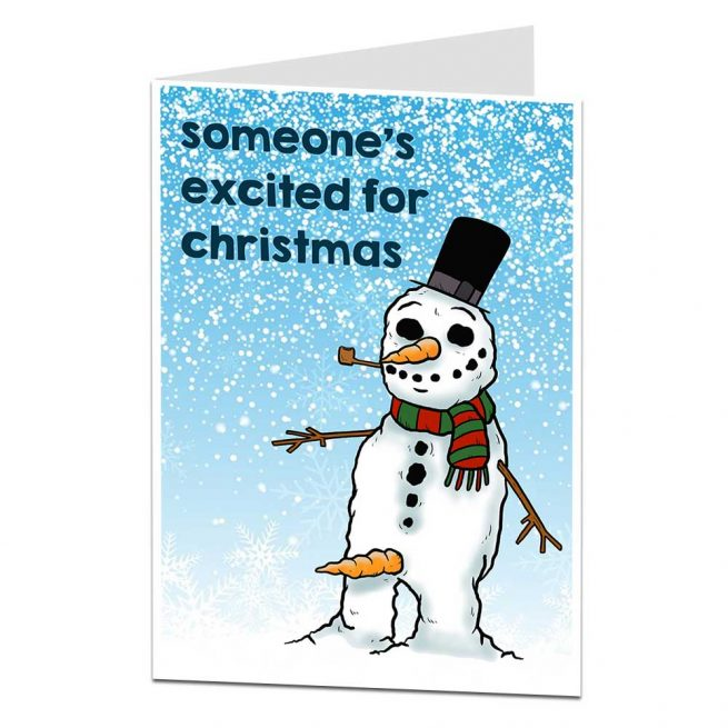 funny rude snowman christmas card