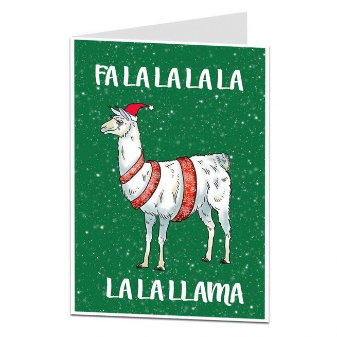 Fa La Llama Christmas Card