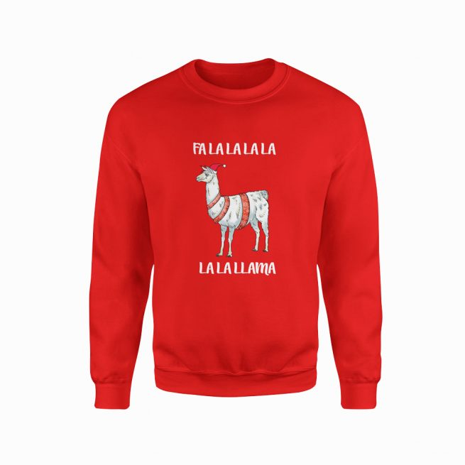 Llama Red Christmas Jumper