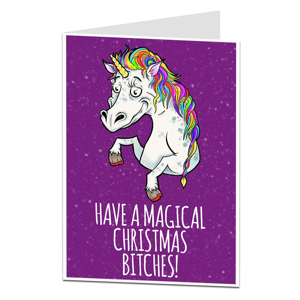 Christmas Unicorn.Magical Unicorn Christmas Card