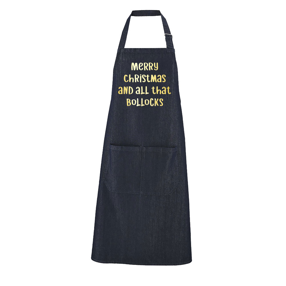 Merry Christmas And All That Bollocks Apron