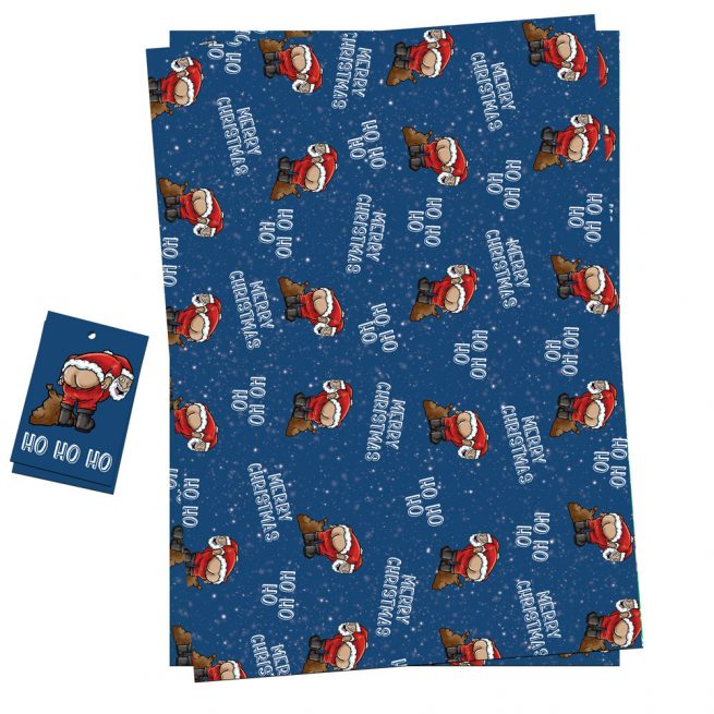 Santa Mooney Gift Wrap
