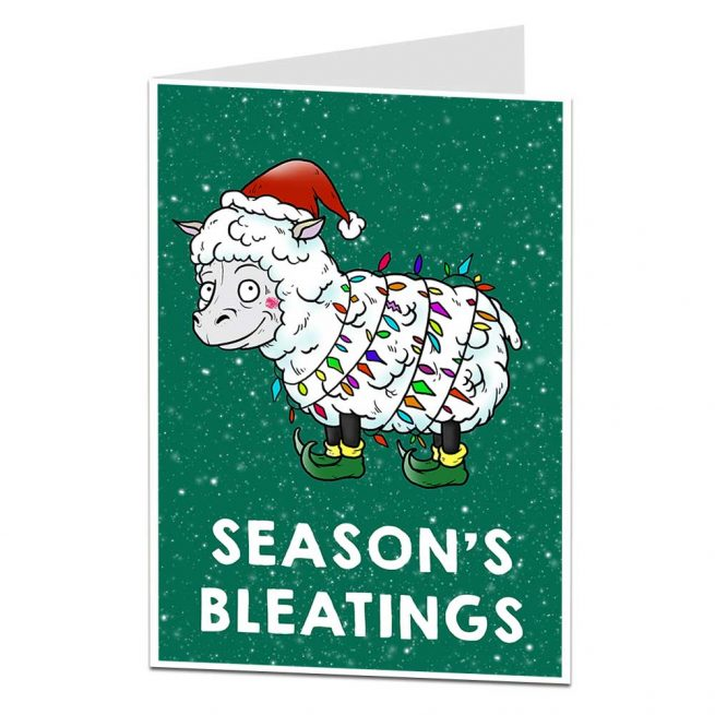 Season's Bleatings Christmas Card