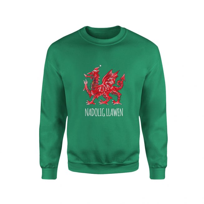 Welsh Dragon Christmas Jumper