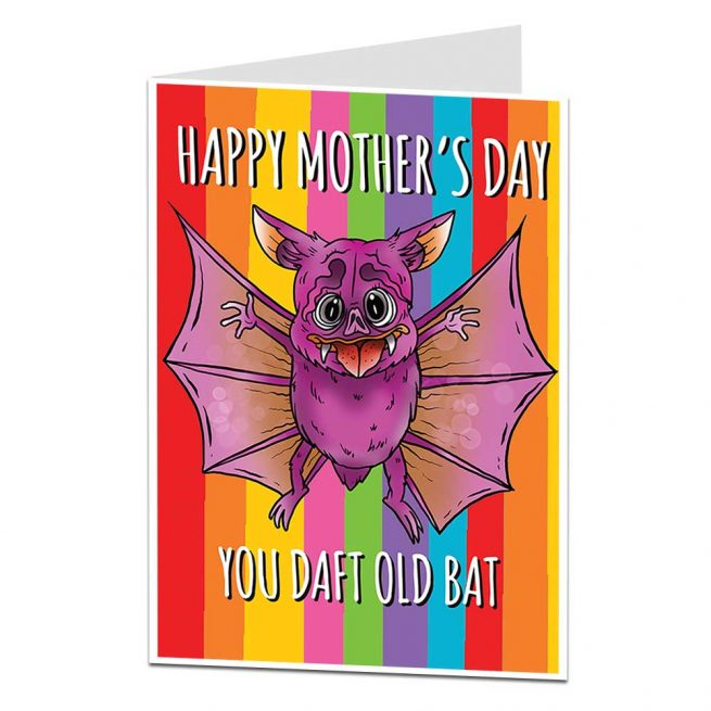 Daft Old Bat Mother's Day Card