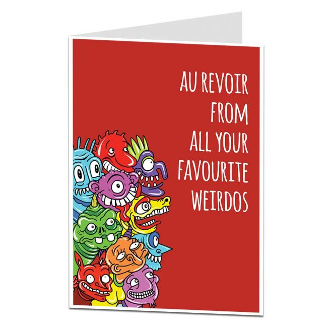 Favourite Weirdos Leaving Card