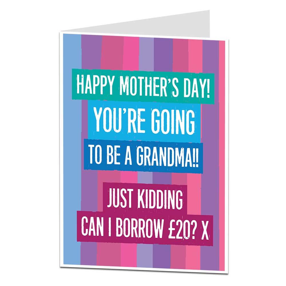 Grandma Joke Mother's Day Card