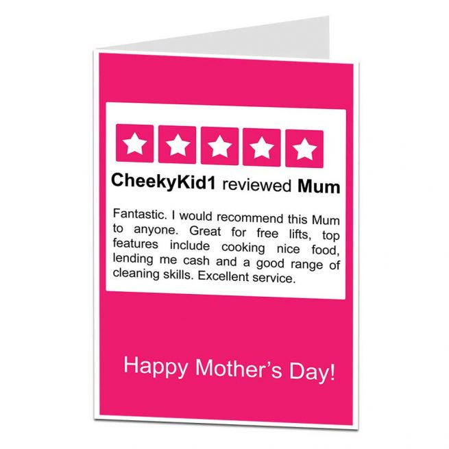 Mum Review Mother's Day Card