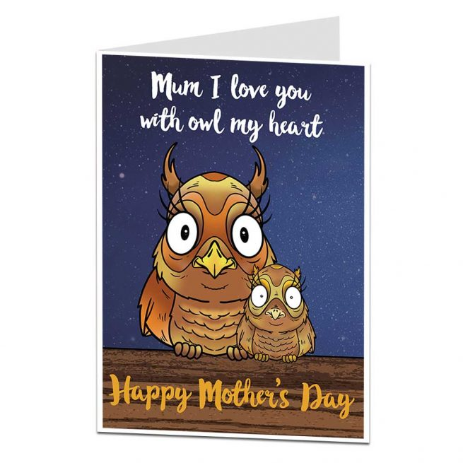 Owl Mother's Day Card