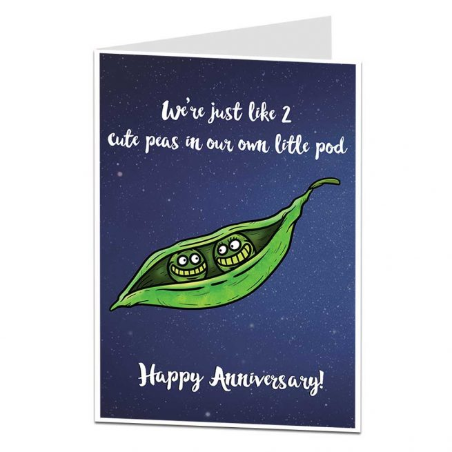 Peas In A Pod Anniversary Card