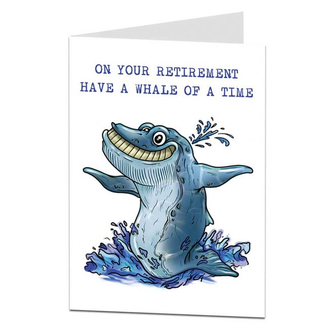Whale Of A Time Retirement Card