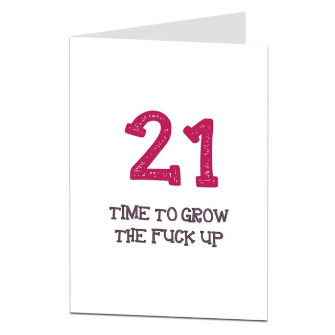 21st Birthday Cards