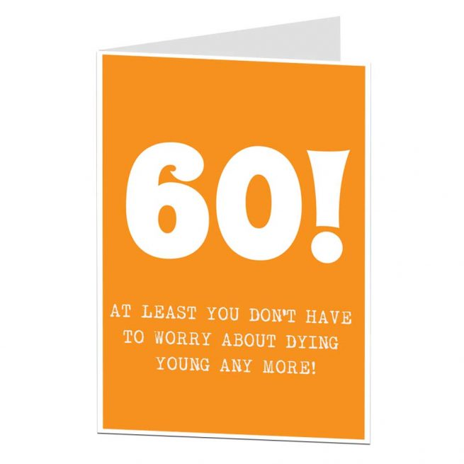 Funny 60th Birthday Card Age Related Joke