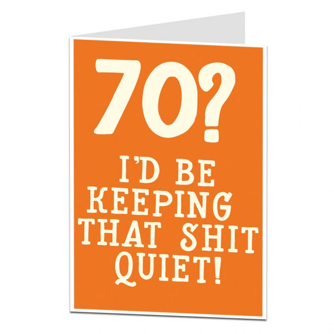 70th Birthday Card For Men Women
