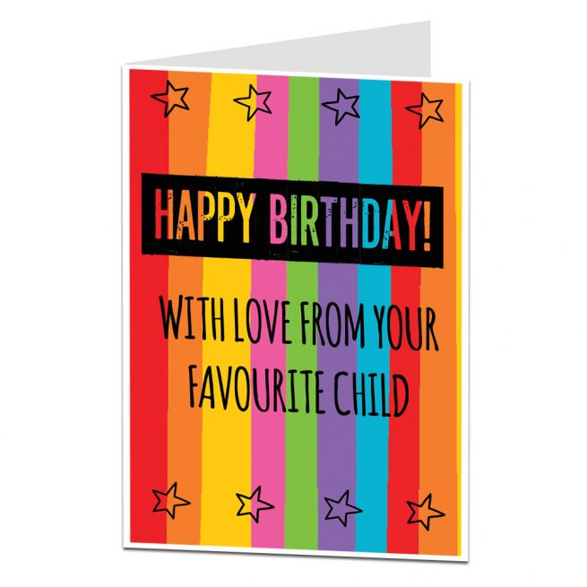 Happy Birthday Mum Dad From Your Favourite Child
