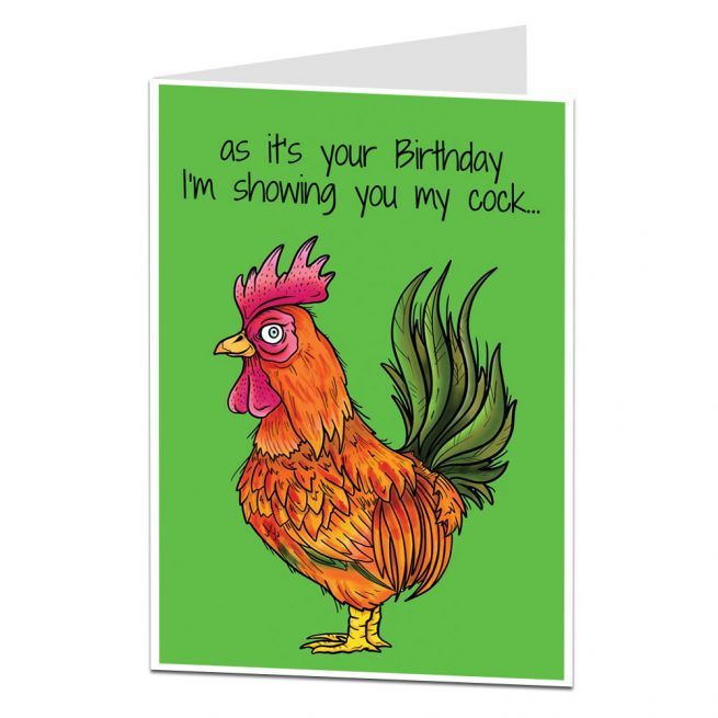 Showing You My Cock Birthday Card