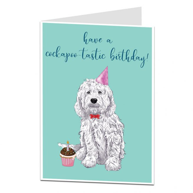 Dog Birthday Card Cockapoo Tastic
