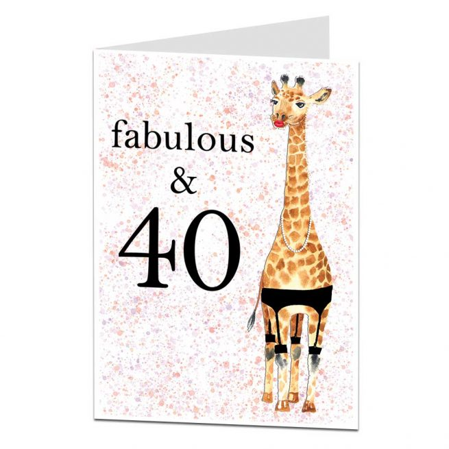 Fabulous 40 Birthday Card For Her