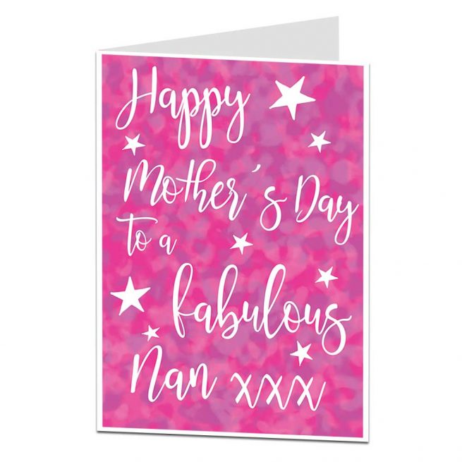 Fabulous Nan Mother's Day Card