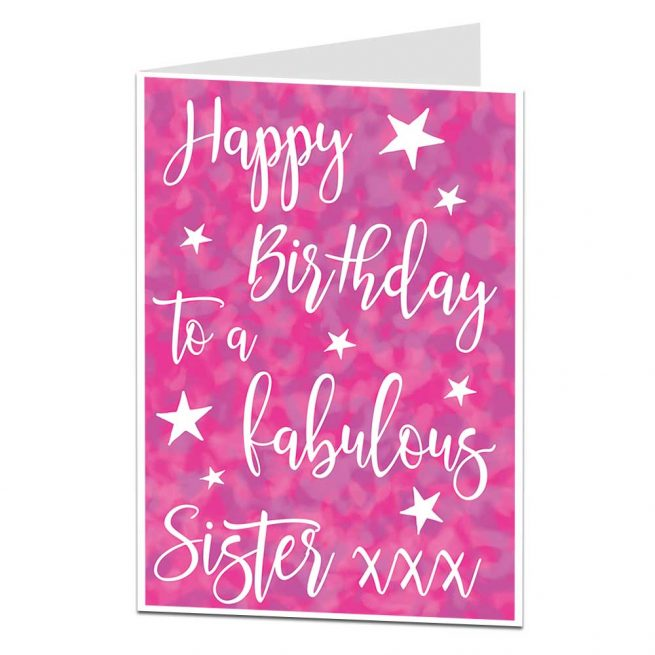 Fabulous Sister Birthday Card