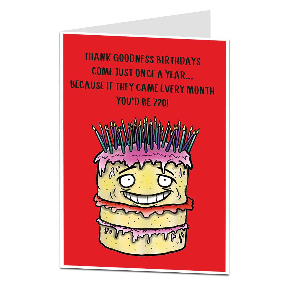 60th Birthday Card Age Joke