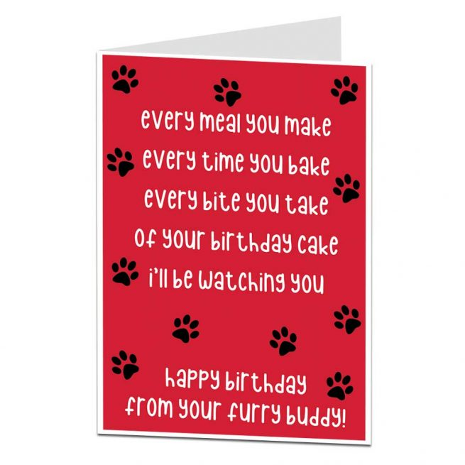 Funny Happy Birthday Card From The Dog