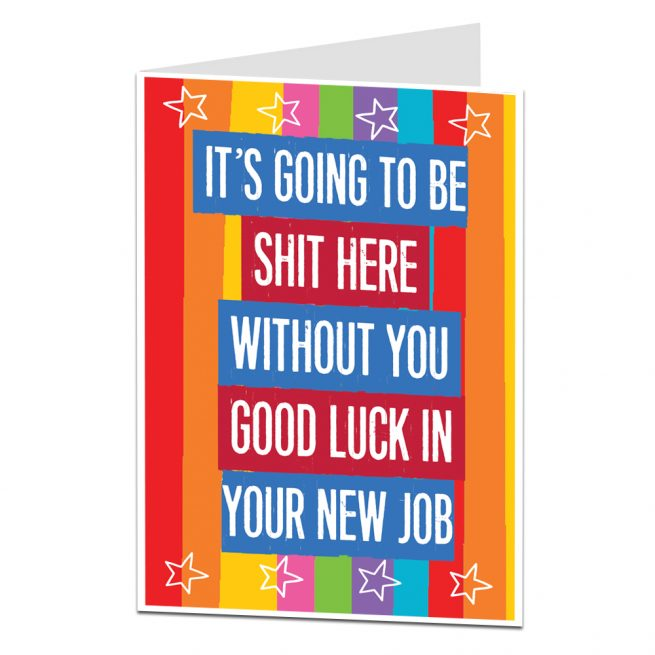 writing a leaving card to a friend