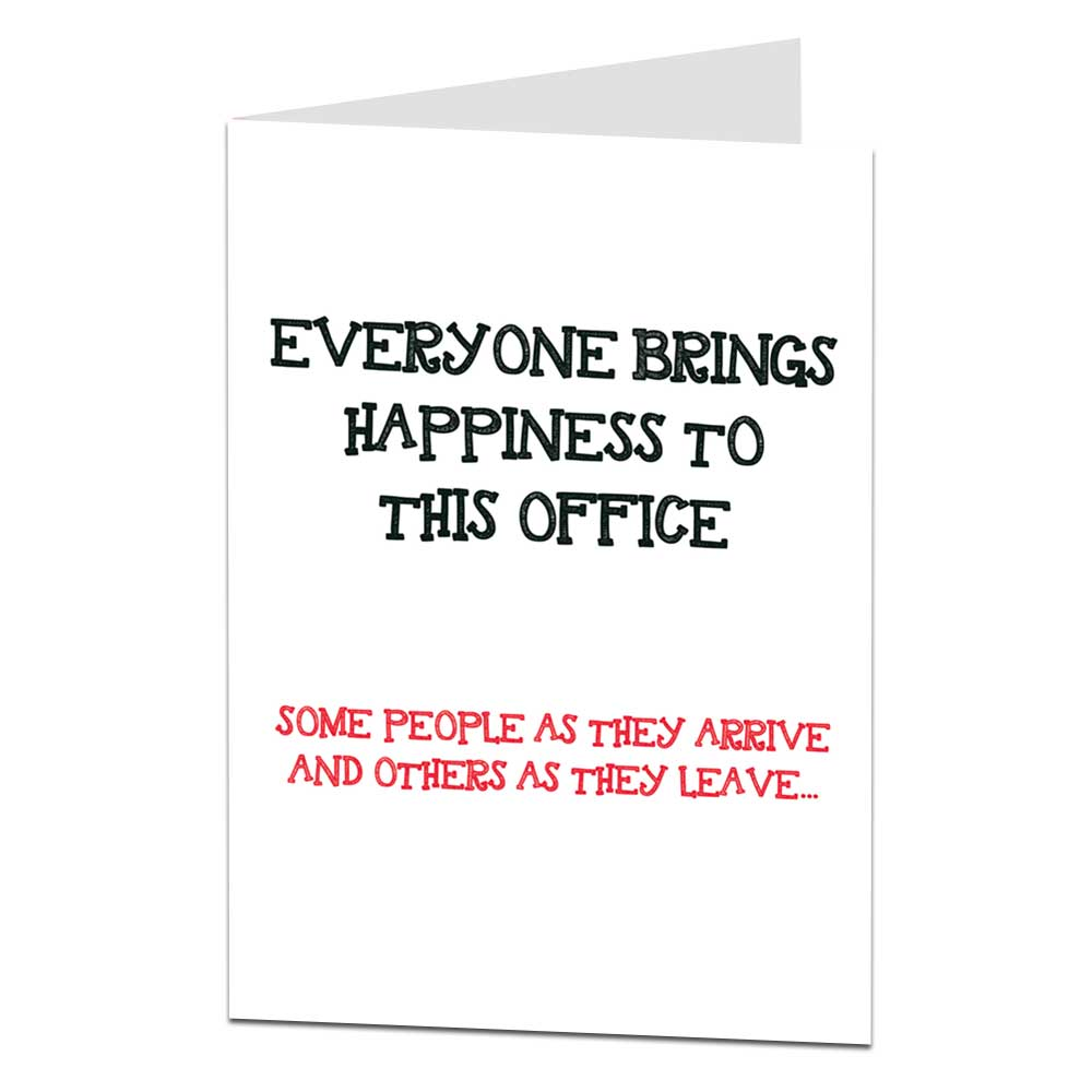 funny sorry your leaving the work office card  limalima