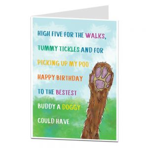 Funny Birthday Card From The Dog